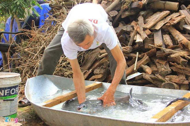 Cá trắm đen lựa chọn con tươi mang về làm sạch